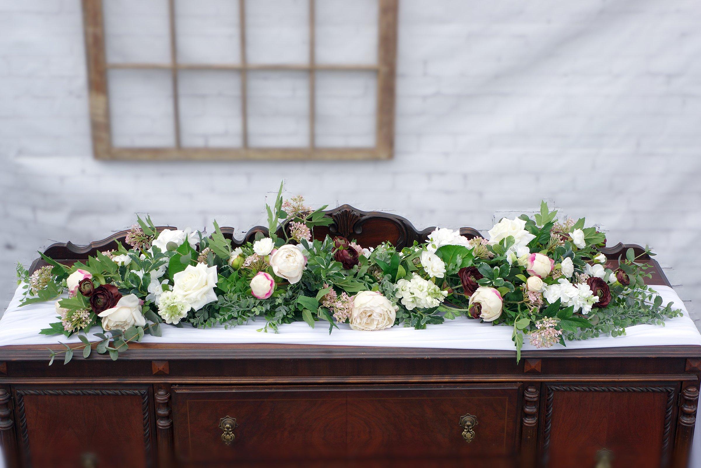 Kingston Florist: 8' garland white