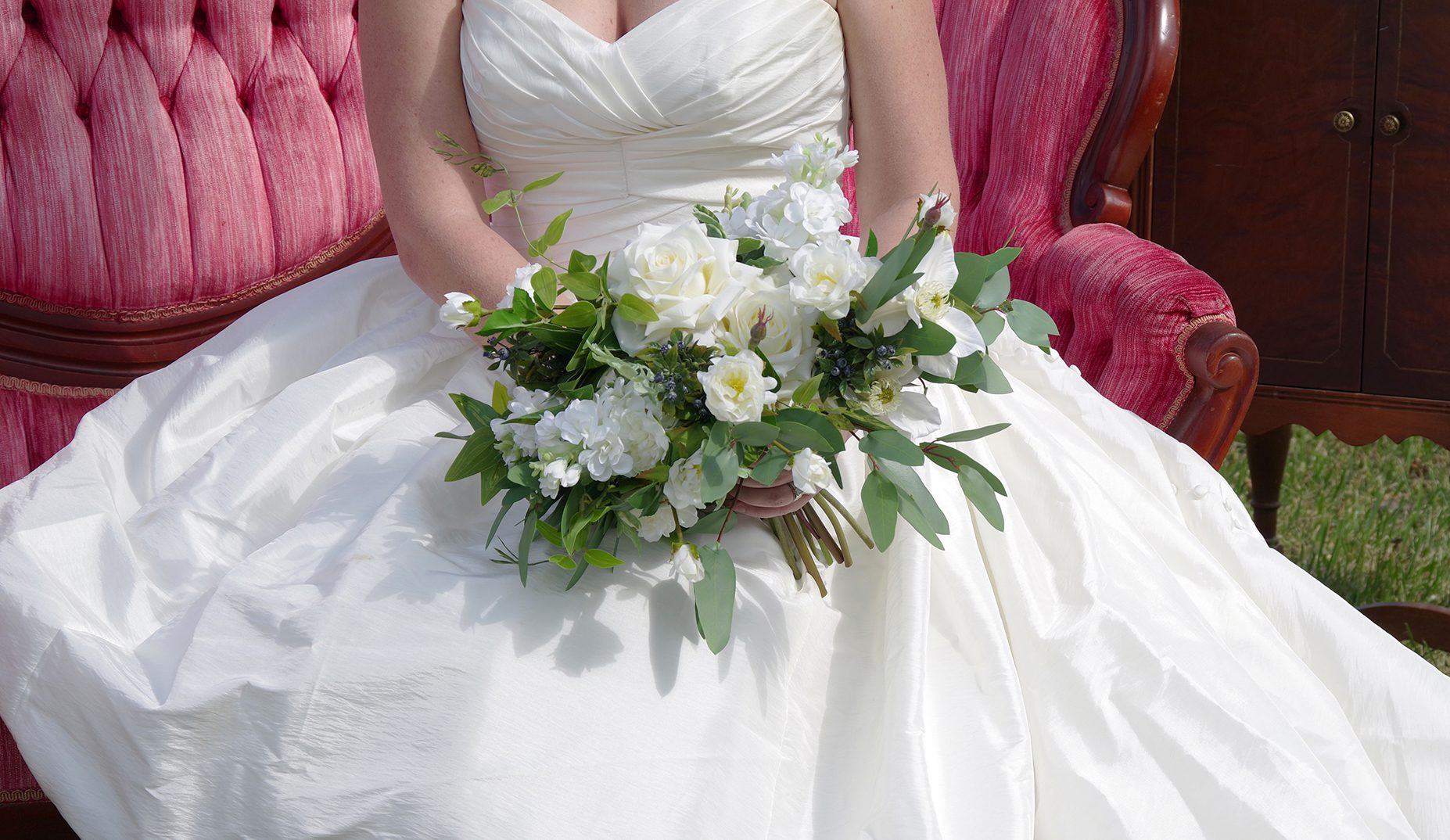 Kingston Florist: Bride Holding A Flower Bouquet