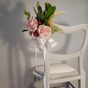 Pink Rose Aisle Marker