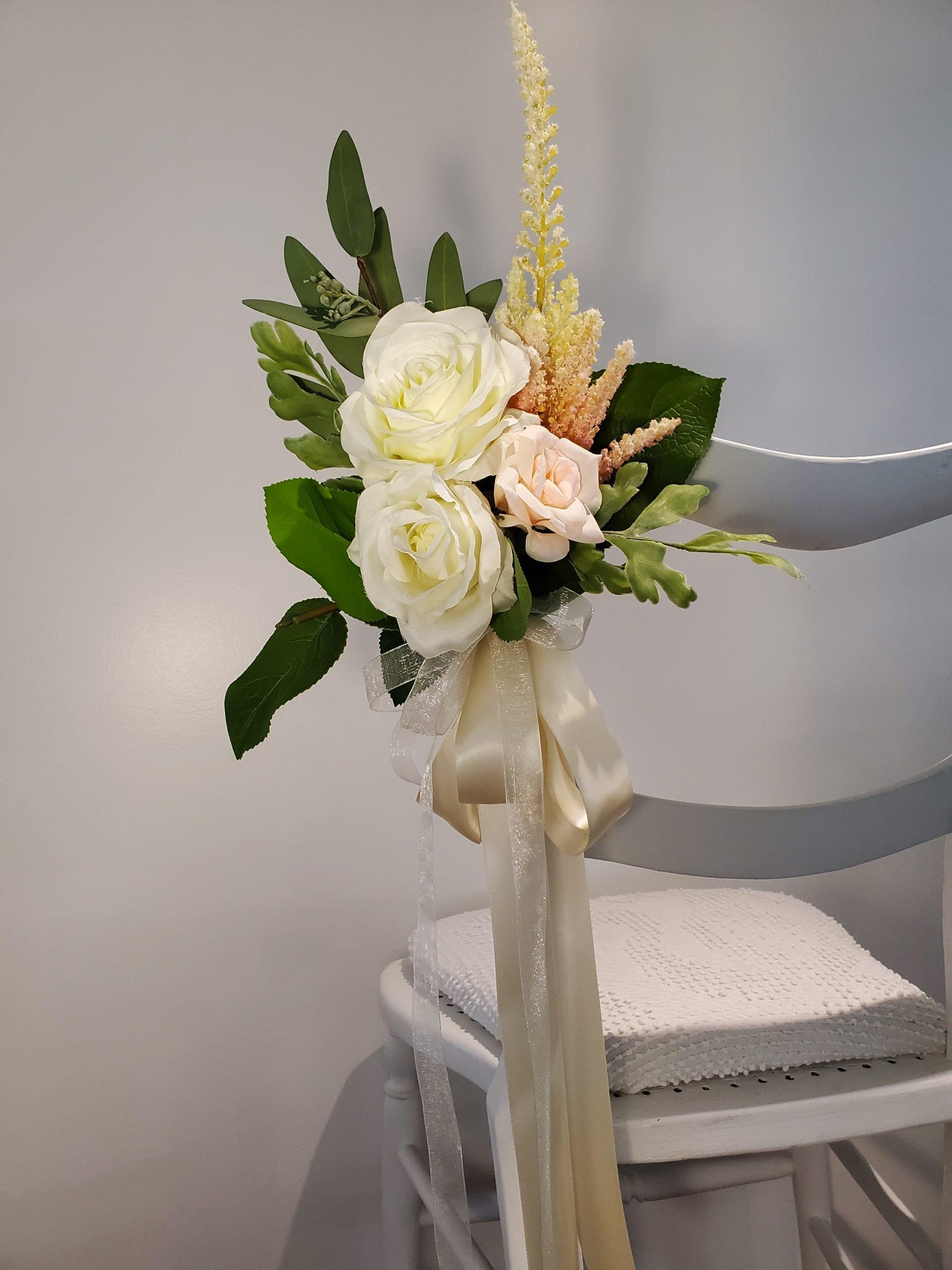 White Rose Aisle Marker