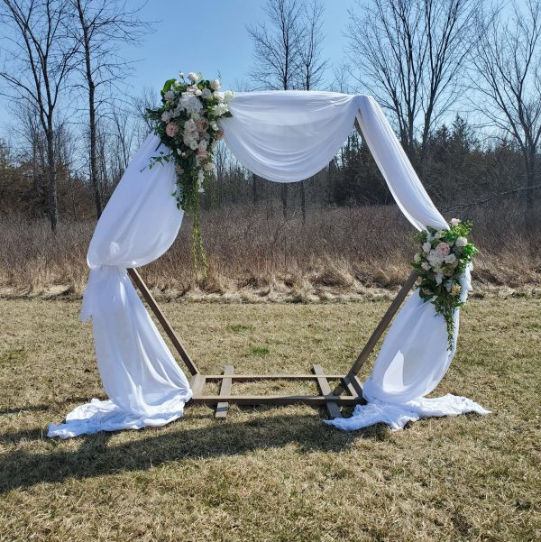 Arch with Draping and Florals