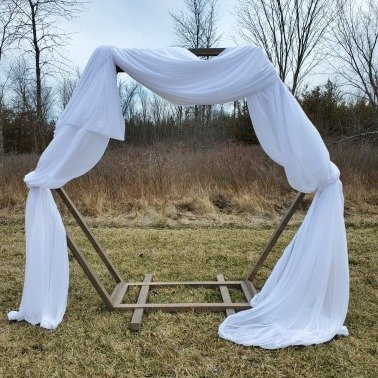 Double Hex.Arch with Draping
