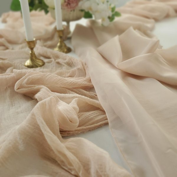Drape and cheesecloth scaled
